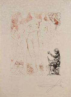 """Salvador Dali """"The Three Graces"""", Etching, 1963"""