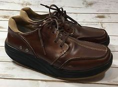 MBT Mens Tariki Chestnut Brown Leather Walking Shoes Sneakers Size 11 US 45 EURO  | eBay