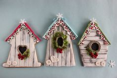 Winter birdhouse cookies | Flickr - Photo Sharing!