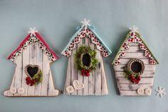 Winter birdhouse cookies | Flickr - Photo Sharing!