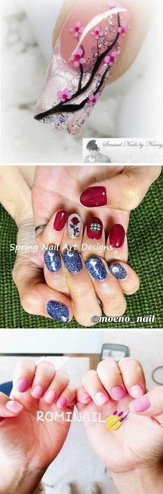 Spring Nail Art, Spring Nails, Summer Nails, Nail Designs Pictures, Diy Nail Designs, Fun Nails, Pretty Nails, Flower Nail Art, Dipped Nails