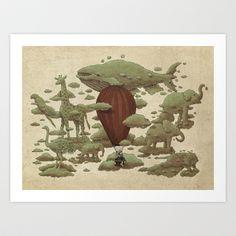 Cloud Watching Art Print by Terry Fan - $18.00