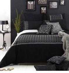 Diseño de Dormitorios Pequeños en colores Blanco y Negro : Casas Decoracion