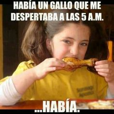 Habia un gallo que me despertaba a las 5 am.... HABIA!: Spanish Memes, Jokes, Funny, In Spanish, Humor, Laughter, Spanish Class, Spanish Joke