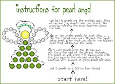 TIP: Pearl angel tutorial These angels are pretty and simple to make. You can use any size pearls you want, I like to use small ones. Beaded Christmas Ornaments, Angel Ornaments, Christmas Jewelry, Christmas Angels, Christmas Projects, Holiday Crafts, Christmas Diy, Christmas Decorations, Xmas