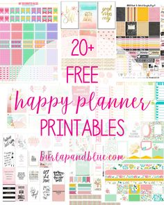 Free Happy Planner printables to help you stay organized in the prettiest way possible! The Happy Planner is the perfect way to get and stay organized in the New Year. These planner printables are… Happy Planner Cover, To Do Planner, Mini Happy Planner, Vacation Planner, Free Planner, Planner Pages, Planner Ideas, Teacher Planner Free, Weekly Planner Printable