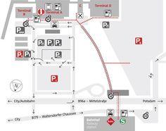 Plano de la terminal y el aeropuerto Berlin Schönefeld (SXF)