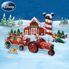 Disney Mickey Mouse Christmas Sculpture Set: Bringing Home The Tree With Mickey Mouse #DeckTheHalls