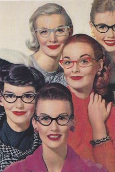 40's Cat eye glasses....................love this look .