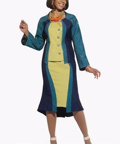 e69f4e45ebcb This Seaport  amp  Lime Jacket  amp  Trumpet Skirt - Women  amp  Plus by