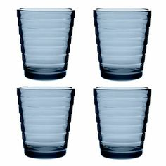 This award-winning medium tumbler is part of iittala's oldest line, yet remains forever fresh especially saturated in iittala's crisp 2014 color, Rain.  Iittala Aino Aalto Rain Medium Tumbler – Set of 4 - $42