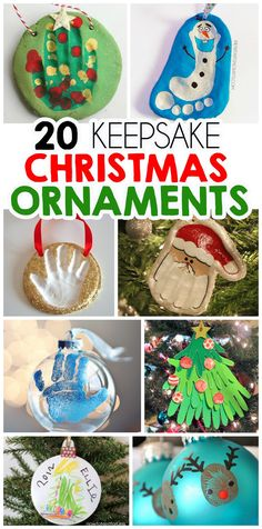 20 of the best keepsake Christmas ornament crafts (Christmas Art For Toddlers) Kids Christmas Ornaments, Preschool Christmas, Christmas Crafts For Kids, Christmas Activities, Homemade Christmas, Christmas Fun, Holiday Crafts, Holiday Fun, Christmas Decorations