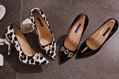 """LULY PUMP IN SPOTTED PONYSKIN & PATENT LEATHER WITH A GOLDEN METAL JEWEL ACCESSORY """"POP!"""" - Shoes Woman - Alberto Guardiani"""