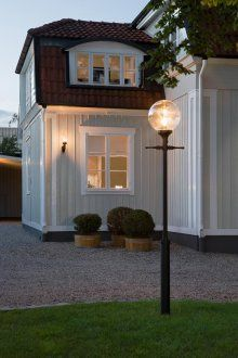 From Artsmith House Colors, House Design, House Styles, House Plans, Exterior Design, Exterior Lighting, Old Houses, House Inspo, House Exterior