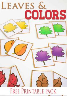 Free Fall Colors Printable Activities for Preschoolers