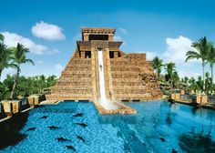 The Mayan Temple at Aquaventure features five slides