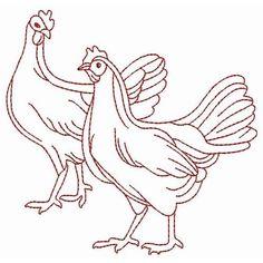 redwork chickens
