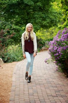 oversized sweaters, plum, and booties
