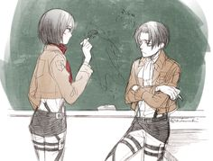 Mikasa's not much better than Levi at drawing.