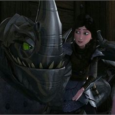 Heather and Windshear in Dreamworks Dragons: Race to the Edge
