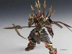 GUNDAM GUY: Gundam Xiang Yu 'Hegemon-King of Western Chu' - Custom Build
