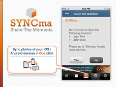 SYNC your photos to your other devices with just one click. Save the valuable time and experience the power of SYNCma.