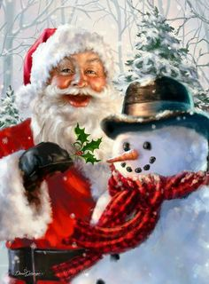 christmas images Collection of Snowman Xmas Diamond Paintings Christmas Scenes, Father Christmas, Santa Christmas, Christmas Pictures, Winter Christmas, Christmas Time, Illustration Noel, Santa Pictures, Old Fashioned Christmas
