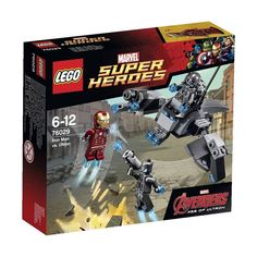 The Lego Marvel Super Heroes Iron Man vs Ultron set from Lego - a great selection of Lego construction sets at Wonderland Models. One of our favourite sets in the Lego Marvel Super Heroes range is the Iron Man vs Ultron set. Ultron Marvel, Age Of Ultron, Lego Marvel's Avengers, Lego Marvel Super Heroes, Avengers Age, Iron Men, Lego Minecraft, Lego Disney, Funko Mini