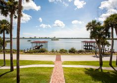 Enjoy the riverfront lifestyle in Port Orange Florida...A beautiful view from Port Orange overlooking the Halifax River with beachside condos in the background.