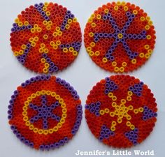 Jennifer's Little World blog - Parenting, craft and travel: Creating Hama bead Rangoli patterns for Diwali