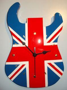 Orologio in legno disegno bandiera Inglese di Originalclock
