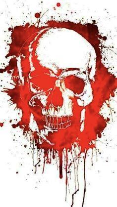 Skull Artwork, Skull Painting, Rabe Tattoo, Graffiti, Totenkopf Tattoos, Skull Pictures, Skull Wallpaper, Trash Polka, Skull Design