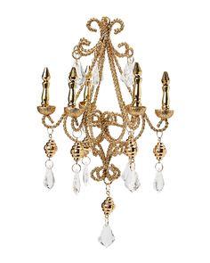 Kurt Adler Lite Gold Chandelier Ornament | Christmas Ornaments ...