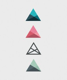 29 ideas tattoo geometric triangle graphic design inspiration for 2019 Triangle Logo, Triangle Tattoos, Triangle Design, Geometric Triangle Tattoo, Geometric Tattoos, Geometric Logo, Geometric Designs, Geometric Shapes, Geometric Embroidery