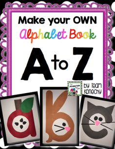 Each student makes their own ABC book. It's engaging and fun! $
