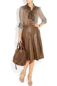 YVES SAINT LAURENT  Leather A-line skirt  £4,904.67