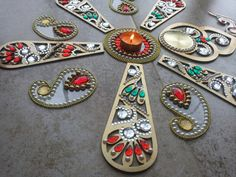 Vintage Diwali Rangoli Rich Look Custom Made by JustForElegance