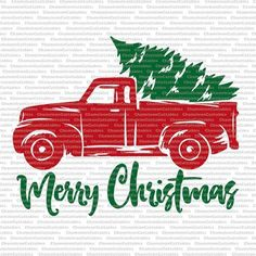 Christmas Truck svg cut file decal vector by ChameleonCuttables Merry Christmas, Christmas Vinyl, Christmas Truck, Christmas Projects, Christmas Ideas, Christmas Shirts, Christmas Stencils, Christmas Pajamas, Christmas Pillow