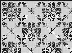 This Pin was discovered by Нат Thread Crochet, Filet Crochet, Crochet Motif, Crochet Stitches, Blackwork Patterns, Blackwork Embroidery, Needlepoint Patterns, Cute Cross Stitch, Cross Stitch Designs