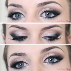 Love this cool-toned smoky eye using Mac Naked Lunch & Plumage eyeshadows