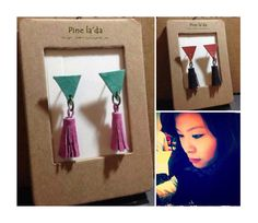 Leather Earrings, designed and handmade by Pineapple Joyce, HKD110. Buy Now:  http://www.popweup.com/index.php?route=product/product&path=0&product_id=1163  #原創#設計 #設計師 #香港原創 #design #designer #designershop #onlineshop  #online #style #leather #earrings #cute #cutie #onlineshop #hkonline #popweup #popselect #hkcrafters #cute #cutie #simpleaccessories #onlineshop  #手作 #首飾 #hkonline #popweup #popselect #hkcrafters #hkig #igshop #topigshop #姊妹
