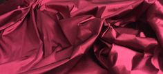 Satin with Stretch a lustrous Dark Red Raspberry 1 1/2