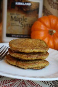 Gluten Free Pumpkin Pancakes. No dairy, no eggs