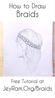 Learn how to draw braids from any angle and on the head with this step by step tutorial. We will simplify down the structure and slowly build up from basic guidelines to shading. This method works for fishtail braids, dutch braids, french braids, and many others. Let's do make some cute drawings of girls with pretty hairstyles :D #art #drawing #hair #braids #manga #anime