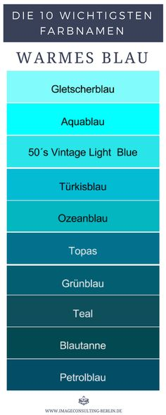 10 warm shades of blue are glacier blue, aqua, vintage light blue, turquoise blue, oz… - wall design ideas Colour Pallette, Color Azul, Turquoise Blue Color, Blue Palette, Warm Home Decor, Topas, Bleu Turquoise, Warm Spring, Vintage Lighting