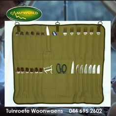 Have a look at this 5 piece cutlery holder, its easy to pack and keeps all your cutlery where it needs to be. #camping #outdoorliving #lifestyle