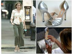 http://celebnco.com/legendary-shoes-of-carrie-bradshaw/ silver Manolo Blahnik