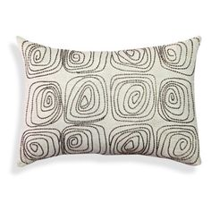 A1 Home Collections Cotton Flex Spiral Embroidered Throw Pillow - RCC-1471