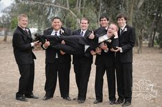 English Garden Wedding - fun photo to do with the guys