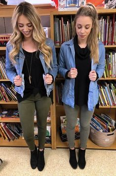 Accidental matching=great minds think alike. #teachers #teacheroutfit #worklook #womensfashion #matching #twins #ootd